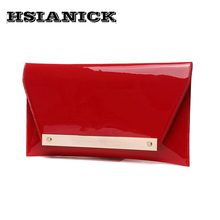 2020 Real Interior Compartment Women Woman Super Luxury New Clutch Bag Female Bright Surface Handbag Evening Party Prom Dinner