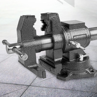 Sotrlo 4 inch Rotating Bench Vise Cast Iron Multi Jaw Table Vises Different Working Tools Pipe Clamp with Anvil Swival Base