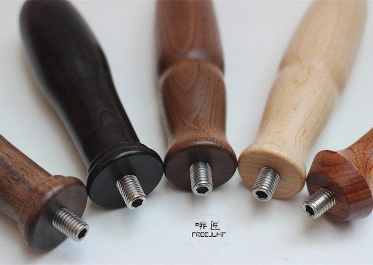 FeiC 1pc 10 12mm Professional Handmade Dalbergia odorifere wooden coffee machine Handle Bowl handle Espresso Tamper