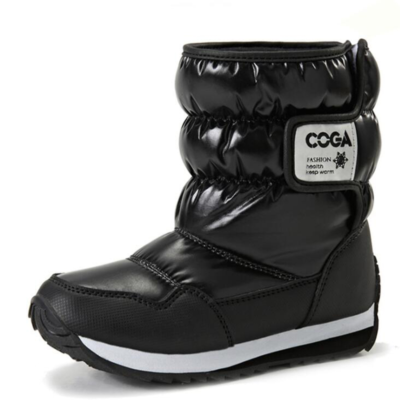 Children Boots Boys & Girls Snow Boots Princess Hook & loop Platform Kids Winter Shoes waterproof non-slip For 3-12 Years Old
