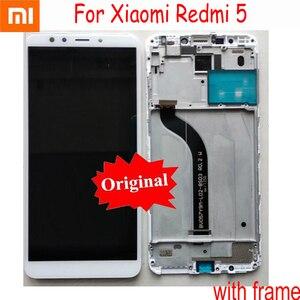 Image 1 - Assemblage Original de numériseur de panneau décran tactile daffichage à cristaux liquides de Xiaomi Redmi 5 avec le capteur de pièces mobiles de cadre