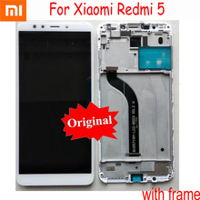 Original Xiaomi Redmi 5 NEW LCD Display Touch Screen Panel Digitizer Assembly with frame Mobile parts Sensor