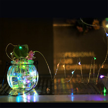 2M 20LEDs String Light Battery Operated Copper Wire Fairy Lights For Christmas Wedding Party Decoration