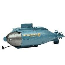 Seis canales Mini Submarino RC Racing Speed Boat para Piscinas Lagos y Aventura Al Aire Libre Juguetes de Control Remoto con 40 MHz Transmisor