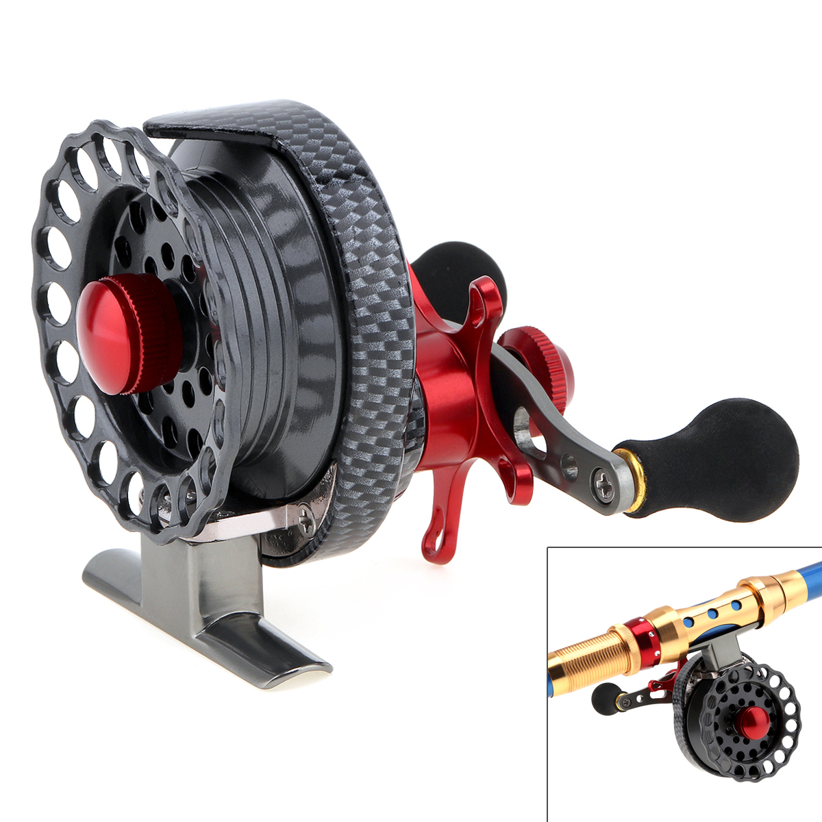 4+1BB 3.5:1 Gear Ratio Fly Fishing Reel Left/ Right Hand 65mm Former Raft Fishing Wheel With High Foot