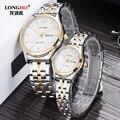 Longbo Marca Top de Luxo Homens de Aço Cheio Relógios Homens de Negócios Relógio de Quartzo Auto Data Waterproof Relogio masculino Relojes Hombre