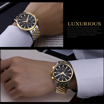 200m Waterproof Top Brand Luxury full steel Watch Men Business Casual Wrist Watches Automatic Mechanical Military Wristwatch