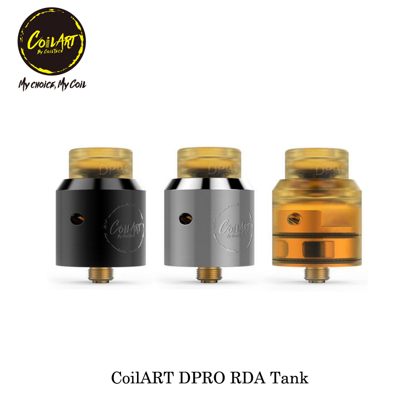 100% Original CoilART DPRO RDA 24mm Diameter 4.5ml Tank Electronic Cigarette Atomizer Vaporizer Vape Tank for 510 Thread box mod цена 2017
