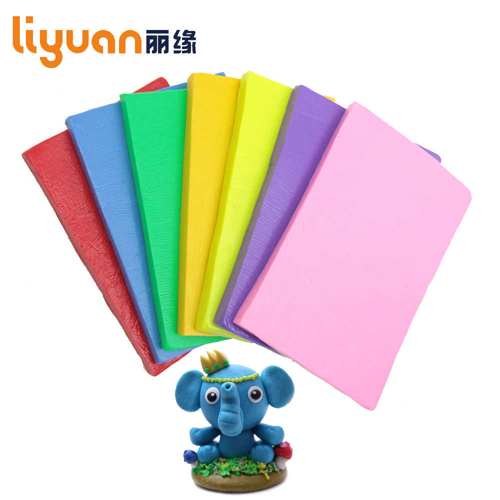 250g/8.82oz Nontoxic Solid Color Soft Oven Bake Polymer Clay Modelling Moulding Block Malleable Fimo Polymer Clay Plasticine