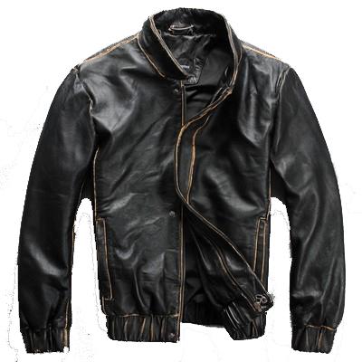 2015 modelos de Pasarela Milán ropa Informal De Cuero Mano bordes de Cuello Delgado párrafo Corto chaquetas de cuero de Los Hombres de Afluencia de hombres