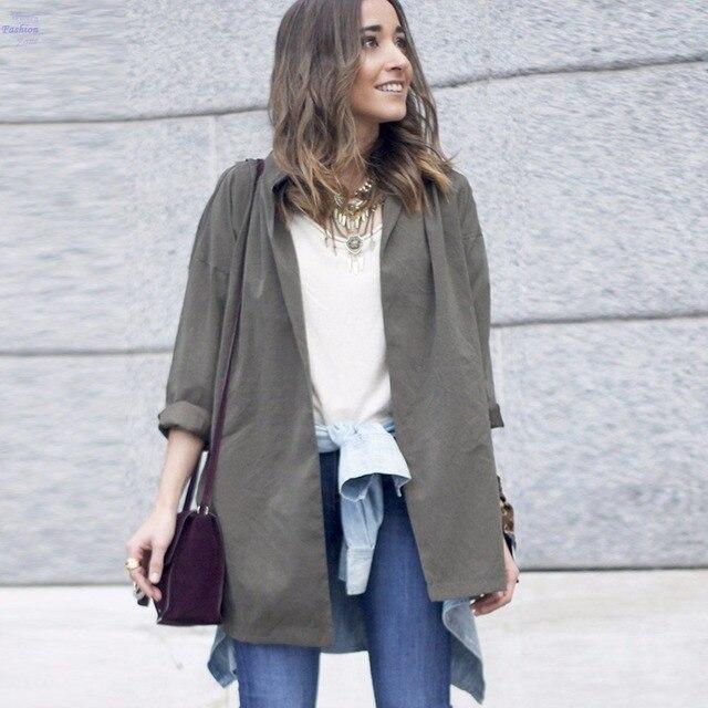 Korean Style Office Elegant Trench Coat For Women Windbreaker Tunic Batwing Sleeve Front Open Thin Outwear Coats Female 20z