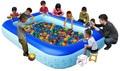 2017 Inflatable fishing pool Swimming Pool Eco-friendly Portable Children Tub Kids Mini-playground large size sea ball pool 2.1M