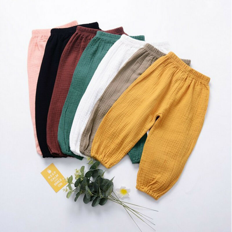 PUDCOCO Trousers Harem-Pants Girls Boys Sport Kids Casual Unisex Loose Bloomers Dance