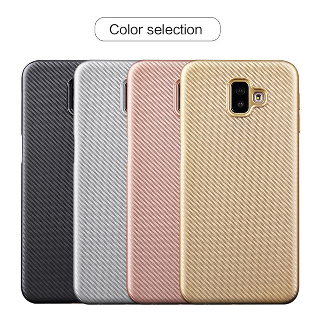 the best attitude 30000 1adb1 US $1.81 14% OFF|For Samsung Galaxy J6 Plus case PU Back cover For Samsung  J6 Plus 2018 J610F J610 SM J610F J6Plus Phone case Luxury carbon fibre-in  ...