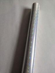 Transparente folie holographische folie stern muster heißprägefolie 64 cm x 120 m für papier oder kunststoff laminat film transfer
