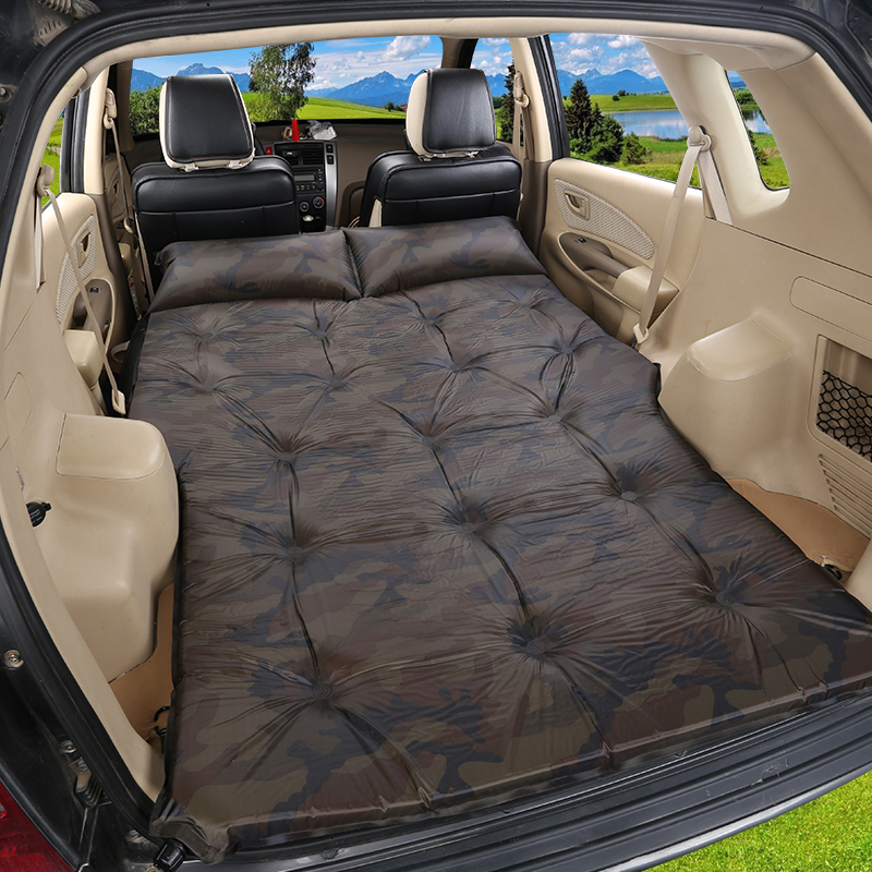 free shipping 2018 Newest Automatic Car Inflatable Big Size SUV Car Inflatable Bed Outdoor Travel Car Air Mattress Bed
