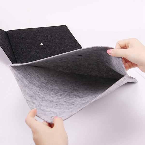 Sıcak satış 1 adet basit katı A4 büyük kapasiteli belge çanta iş evrak çantası dosya klasörleri kimyasal keçe dosyalama ürünleri öğrenci G