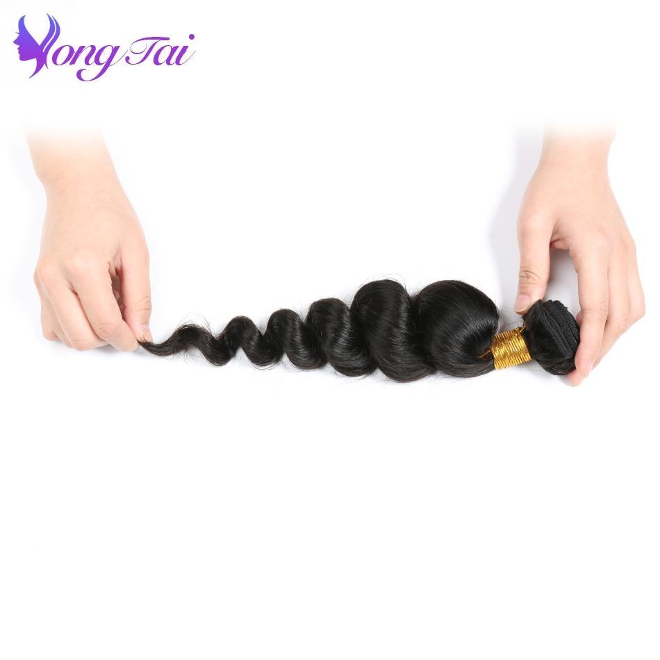 Yongtai Indian Loose Wave Hair Weaving 10-26inch Natural Color 100% Human Hair Bundles 4 Bundles Remy Hair Extensions No Tangle