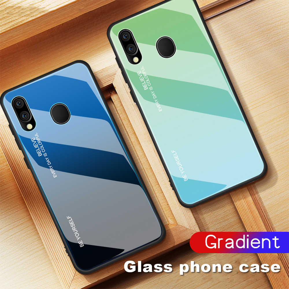 Gradient Case For Samsung Galaxy A10 A20 A30 A40 A50 A60 A70 A20E M10 M20 M30 S10 S10E S9 S8 A8 A6 Plus A7 2018 J4 J6 Glass Case