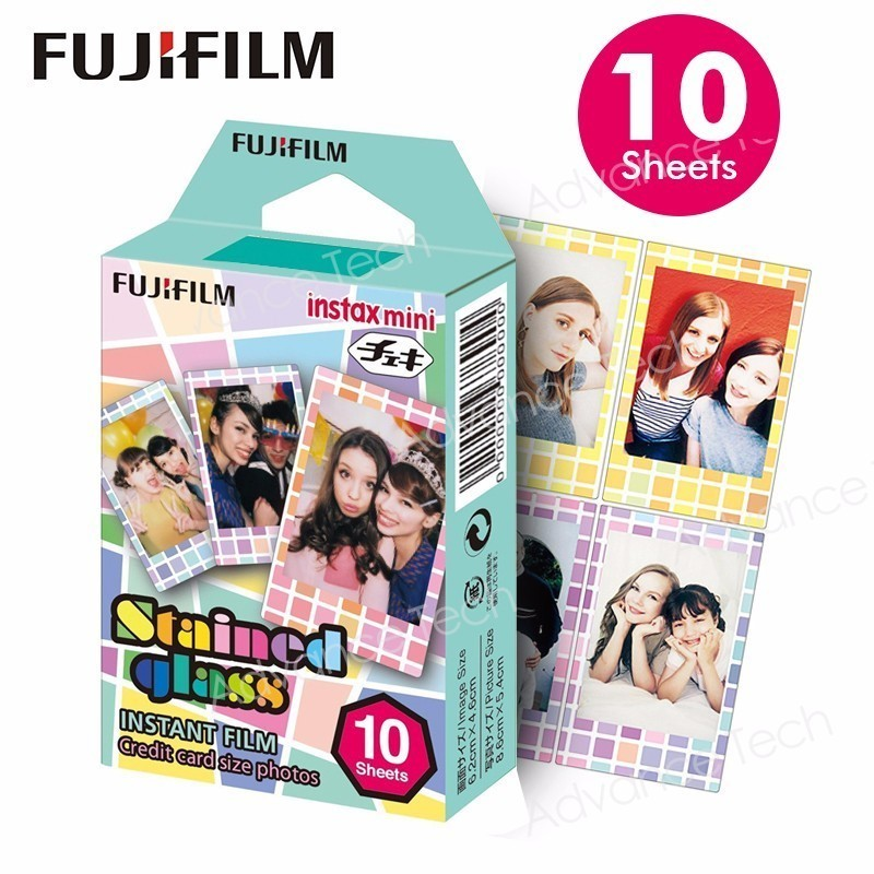 Original Fujifilm Fuji Instax Mini 8 Stained glass Film 10 Sheets For 7 9 50s <font><b>90</b></font> <font><b>25</b></font> Share SP-1 SP-2 Instant Cameras image