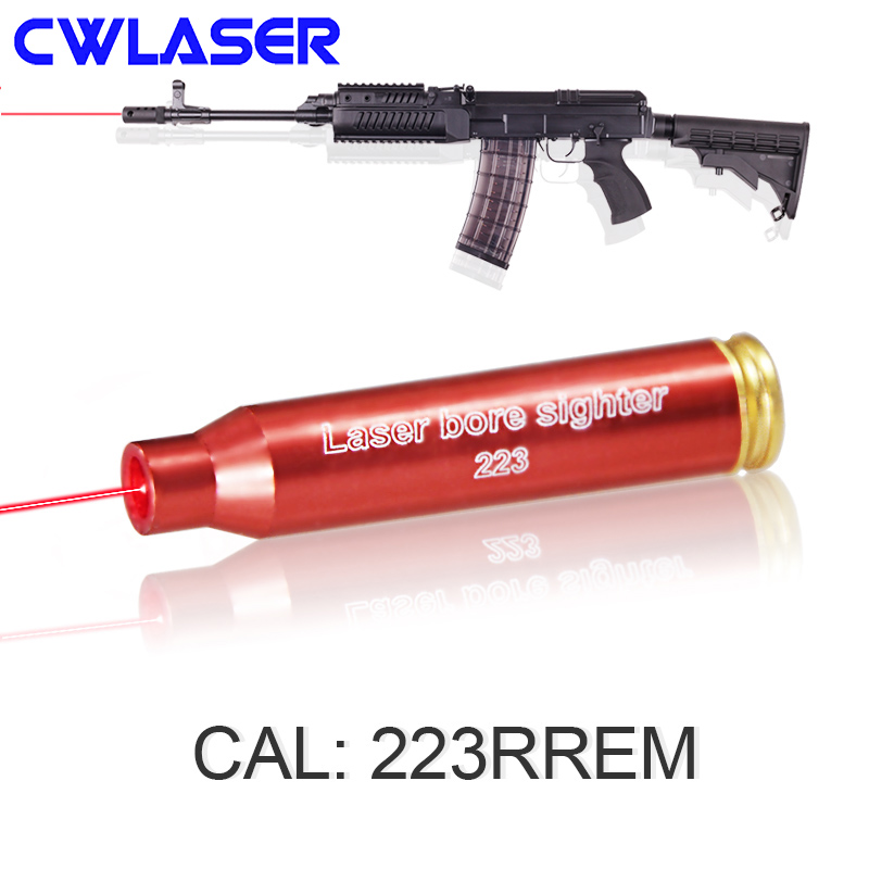 CWLASER 223PREM Cartridge 5mW Red Laser Bore Sighter Hunting Accessories (2 Colors)