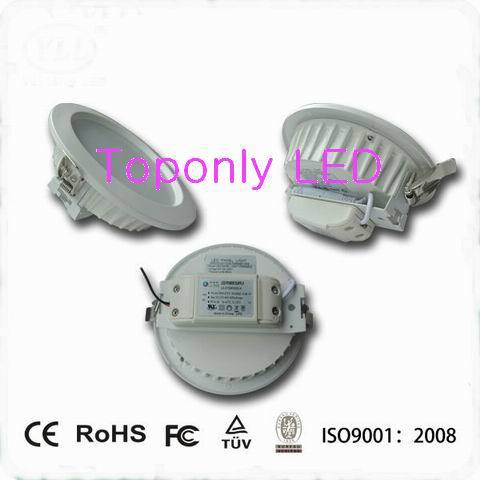 8 25w led down lamp super bright Epistar chips smd led ceiling lighting 105lm/w CRI>80 UL listed led driver AC100-240v CE&ROHS