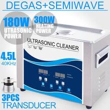 180 W 4.5L Ultrasonik Temizleyici SUS Banyo 40 KHZ Zamanlayıcı Isıtıcı Degas Takı cep telefonu devre Donanım Parçaları Diş Laboratuvarı