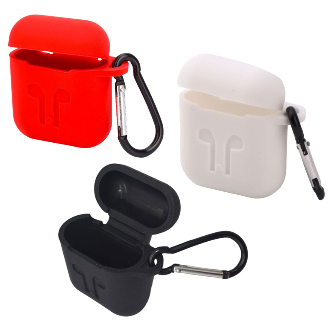 Soft Silicone Cover For Apple Airpods Waterproof Shockproof Protector Case Sleeve Pouch For Air Pods Earphone With Hook