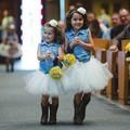 Белый тюль дети дети девушки юбки малышей детские костюм мини бальное платье балет танец свадьба pettiskirt дети