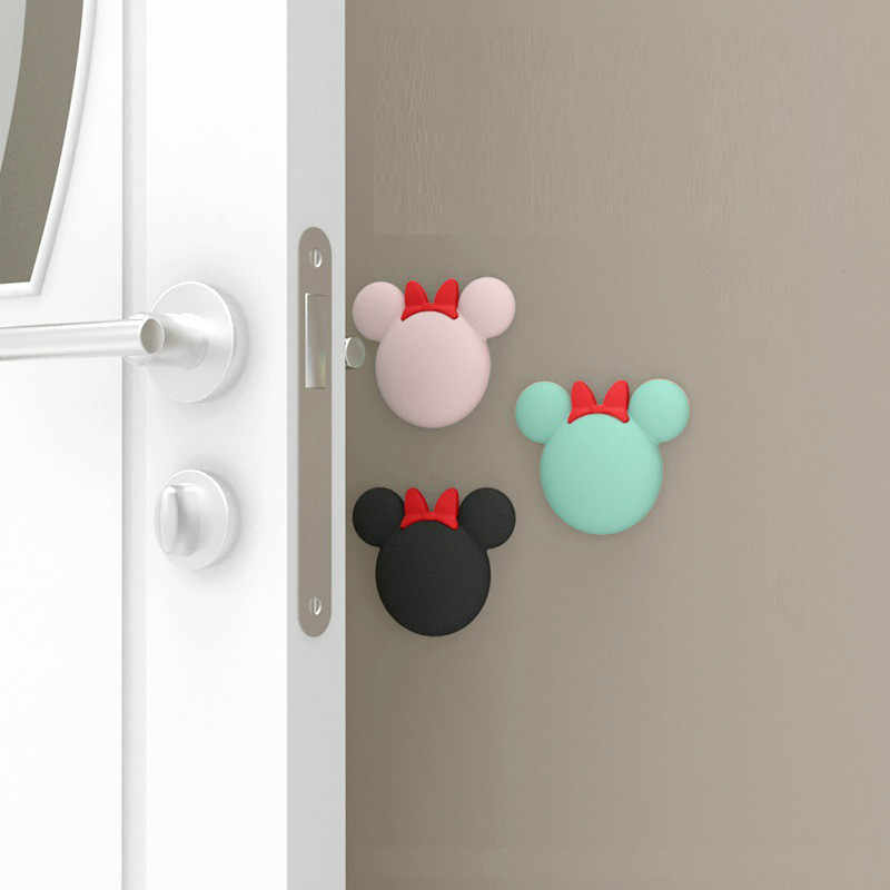 3pcs/set Cute Cartoon Baby Safety Shock Absorbers Door Stopper Baby Protection Lock Security Card Wall Protectors Handle Bumpers