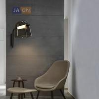 LED Postmodern Iron Glass Black White Smoky Grey LED Lamp LED Light Wall lamp Wall Light Wall Sconce For Foyer Bedroom