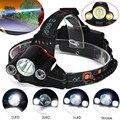 Alta Qualidade 15000Lm Cree 3x T6 LED Recarregável 18650 Farol Cabeça Da Tocha