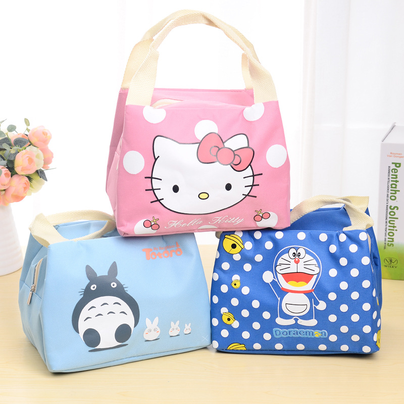 New Cartoon Portable Insulated Lunch Bag Thermal Food Picnic Lunch Bags for Women kids Men Food Storage Bags C5