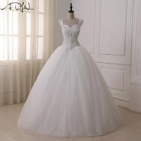 Adln منتفخ الأميرة فساتين زفاف فاخرة كريستال الحبيب خط بثوب الزفاف الإثارة vestidos دي noiva
