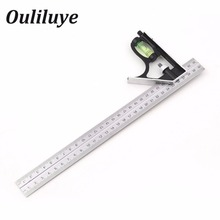 Adjustable Combination Square Ruler Set Angle Gauge Angle Finder Meter Protractor Measurment  Measuring Engineer Tools Steel lixf combination square set angle finder