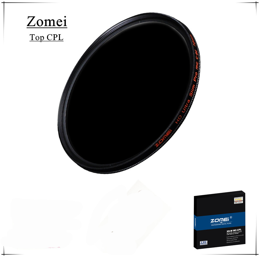 ФОТО Top Quality UHD Zomei 77mm CPL Filter Germany Glass Polarizer Filtro 18 Layer Coating Water Oil Soil for Canon Sony Camera Lens