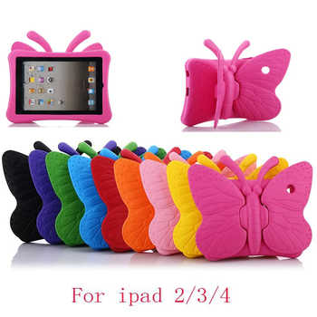 3D Cartoon Butterfly Case For Apple iPad 2 3 4 Case for ipad 4 Kids Safe Stand Shockproof Tablet Cover for ipad 3 for ipad 2 - DISCOUNT ITEM  34% OFF All Category