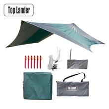 Свръхлеки палатки за палатки за каране Водоустойчив супер голям хамак дъжд Fly портативен тент навес палатка плажна сянка с колчета въжета