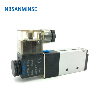 NBSANMINSE 4V210 - 06 / 08 Solenoid Valve G 1/8  G 1/4   Two Position Five Way Pneumatic Air Control Valve AirTAC Type Design