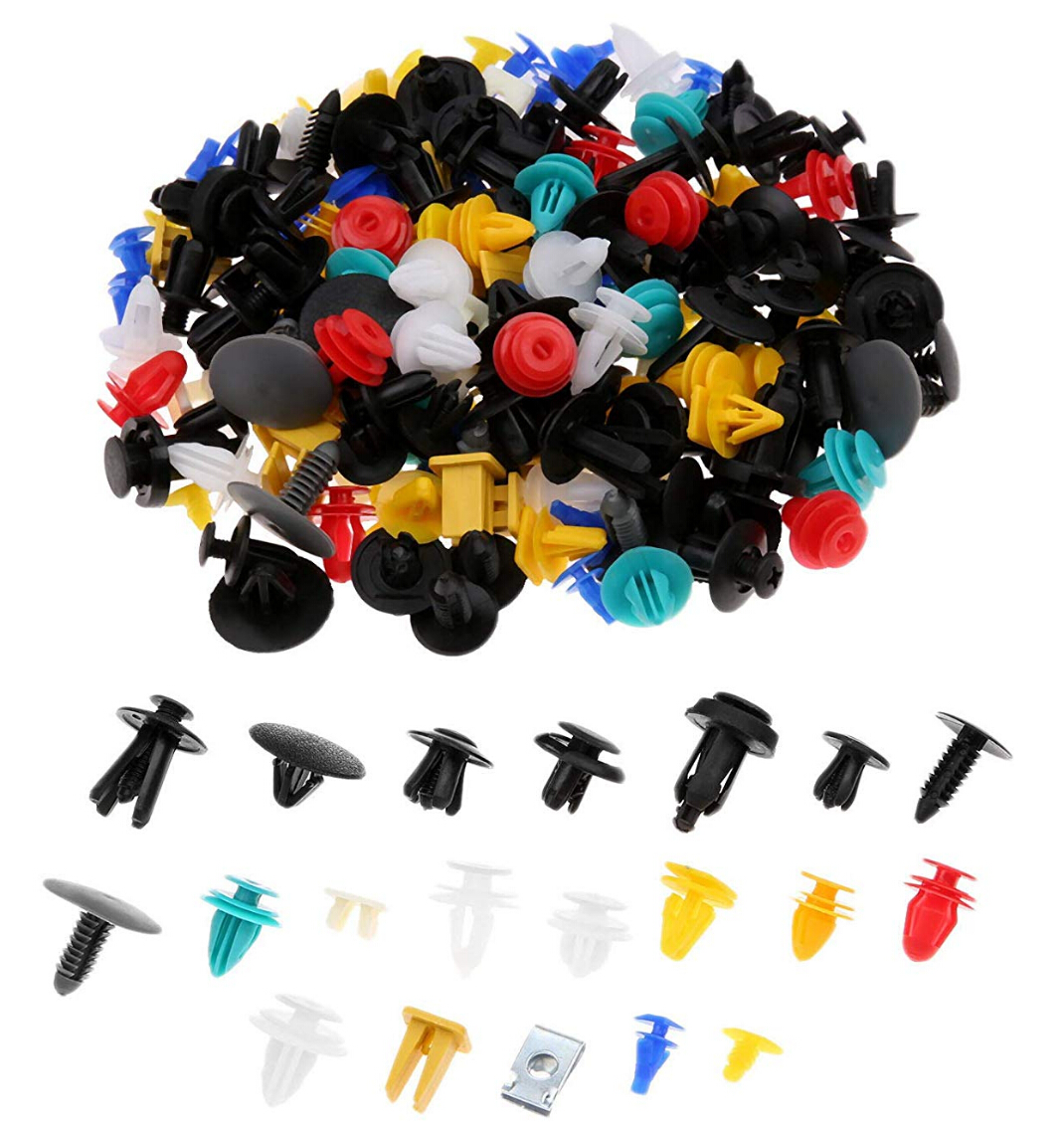 100pcs Mixed Clips For Volkswagen VW Polo Golf 4 5 6 7 Beetle MK1 MK2 MK3 MK4 MK5 MK6 Bora CC Passat B6 B5-in Car Stickers from Automobiles & Motorcycles