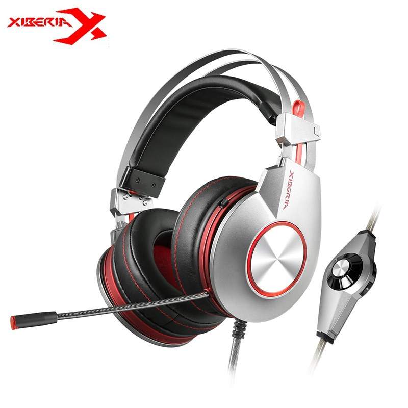 XIBERIA K5 USB Gaming Headphones 7.1 Vibration Flexible Deep Bass LED Light Over-Ear Game Headsets With Microphone For PC Gamer