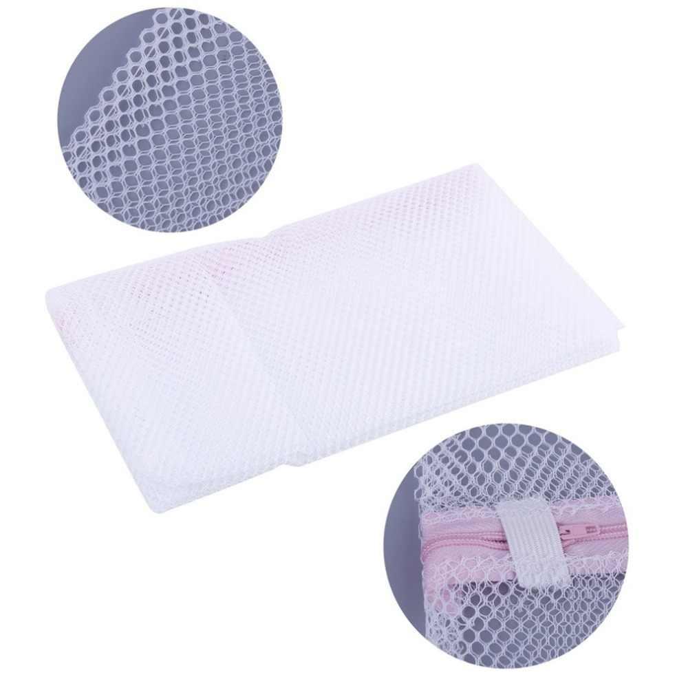 2 Size Zippered Mesh Laundry Wash Bags Delicates Lingerie Bra Socks Underwear Washing Foldable Machine Clothes Protection Net