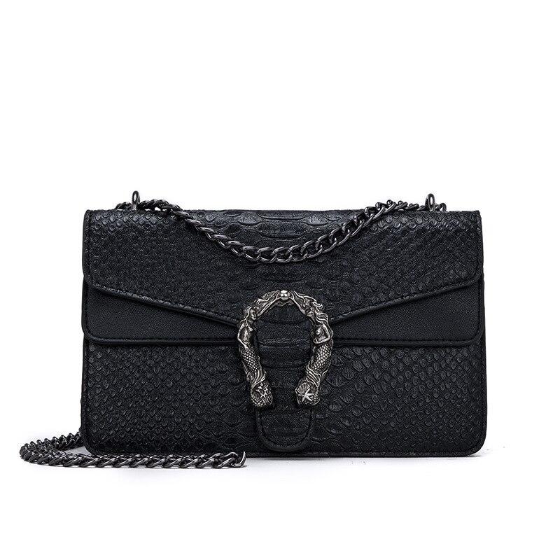 Moda feminina bolsa de couro do plutônio do jacaré do saco do mensageiro da marca da serpente designer corrente ombro crossbody bolsa feminina bolsa bolso mujer