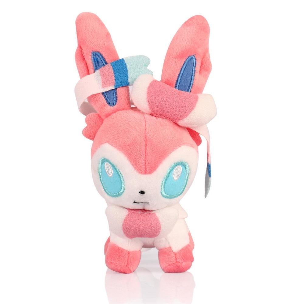 Cute Pokemon 7 Eevee Sylveon Plush Soft Toy Stuffed Doll Gift