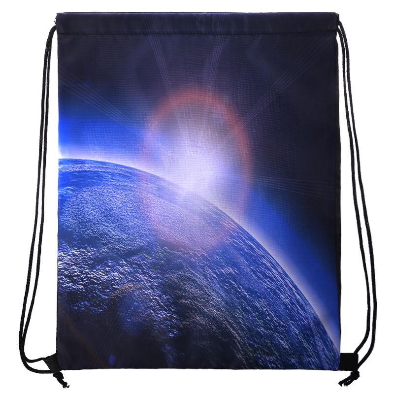 Starry Sky Drawstring Backpack Sport Rucksack School Travel Hiking Shoulder Bags