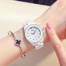 Relojes mujer נשים לבן קרמיקה שעוני יד צמיד קוורץ שעון אישה גבירותיי שעונים שעון נשי אופנה נשים שעונים