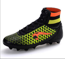2016 newest superfly mens soccer shoes FG high ankle black pink V sock boots football cleats outdoor size 35-44  free shipping
