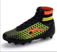 2016 più nuovo superfly mens scarpe da calcio FG alta alla caviglia nero rosa V calzino scarpe da calcio tacchetti outdoor size 35-44 spedizione libero