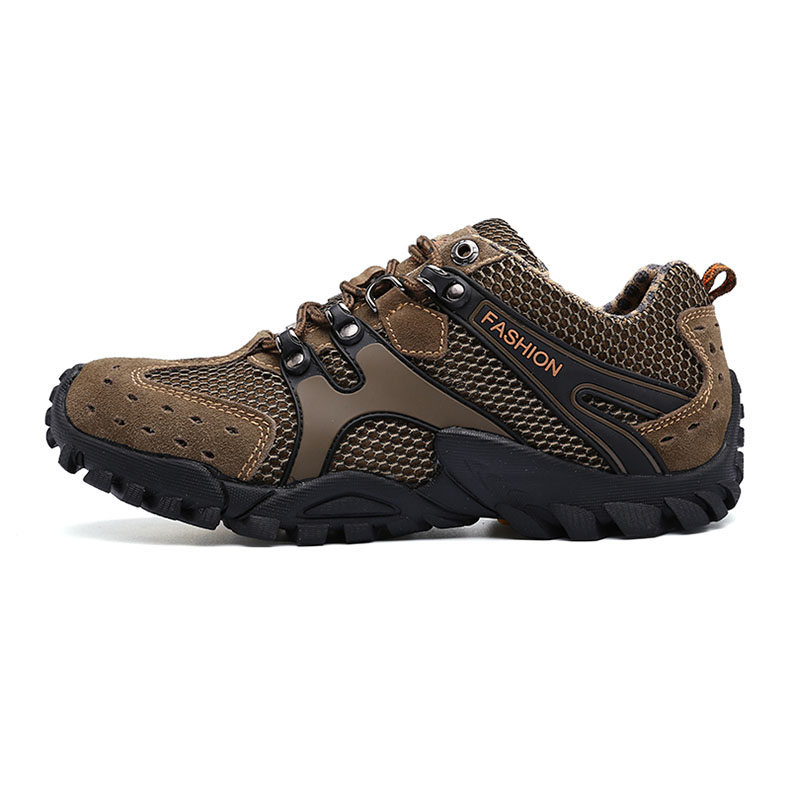 2018 Autumn New Non-slip Waterproof Breathable Lightweight Outdoor Sports Shoes Men's Leather Suede Adult Casual Shoes Men T022