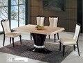 Высокое качество мраморный обеденный стол и 4 стульев 0446-A002